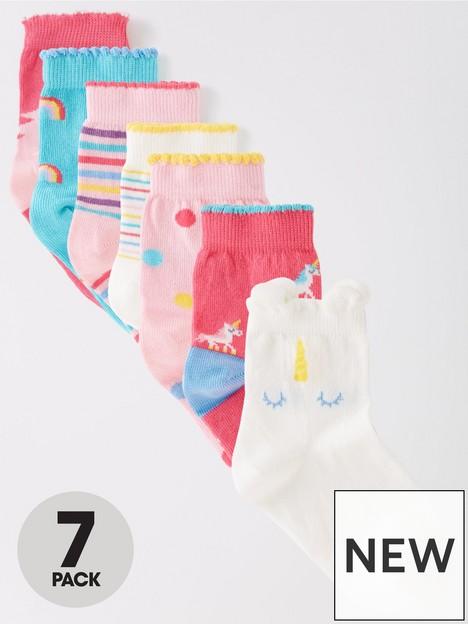 mini-v-by-very-girls-7-pack-unicorn-socks-multi
