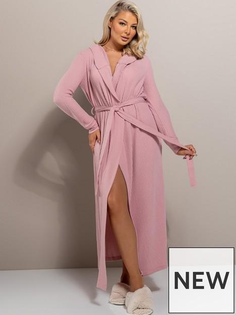 boux-avenue-lillie-waffle-robe-dusky-pink