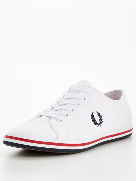 fred-perry-kingston-twill-plimsolls-white