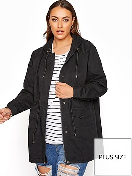 yours-washed-cotton-parka-black