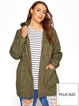 yours-washed-cotton-parka-green