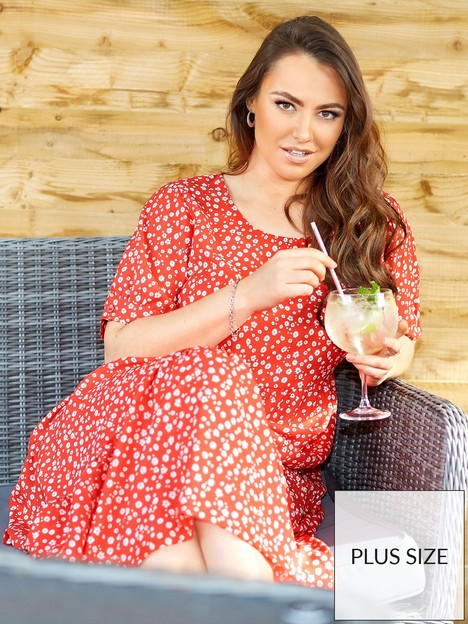 yours-yours-limited-tierred-cotton-maxi-dress-puff-sleeve-red-daisy-print