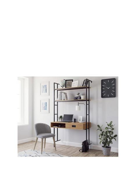 teknik-office-hythe-1-doornbspwall-mounted-desk-walnut