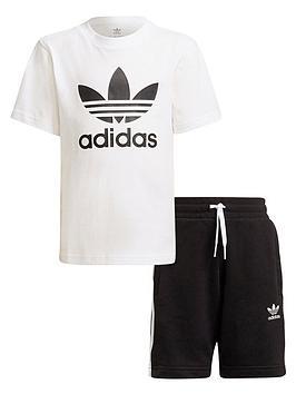 adidas-originals-kids-unisex-short-amp-tee-set--blackwhite