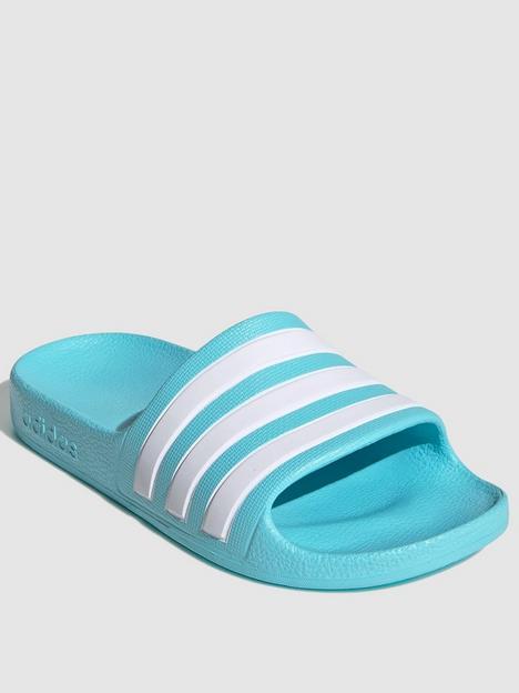 adidas-kids-unisex-adilette-bluewhite