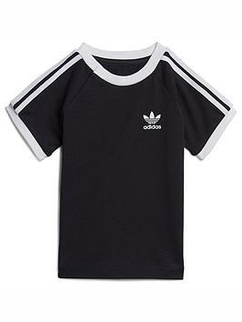 adidas-originals-infant-unisex-3-stripe-t-shirt-black