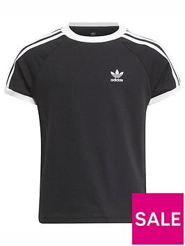 adidas-originals-kids-unisex-3-stripes-t-shirt-blackwhite