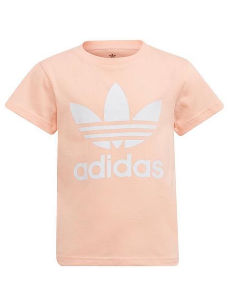 adidas-originals-kids-unisex-trefoil-t-shirt-pinkwhite