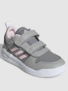 adidas-kids-unisex-tensaur-trainers-greypink