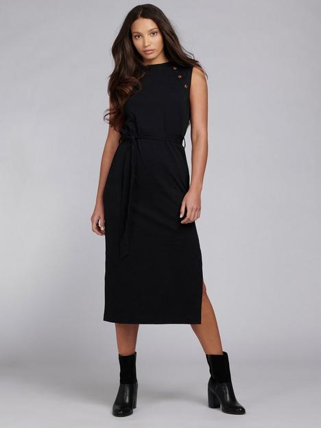 barbour-international-hallstatt-tie-waist-jersey-midi-dress-black