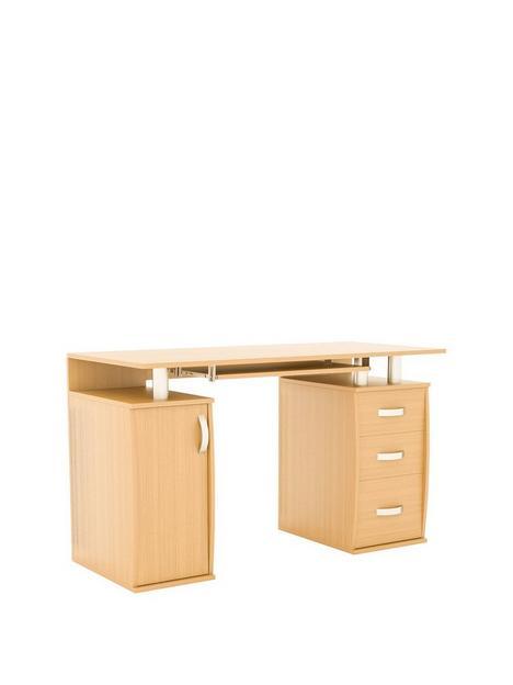 vida-designs-otley-3-drawer-computer-desk-pine