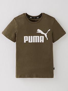 puma-boys-essentials-logo-t-shirt-green