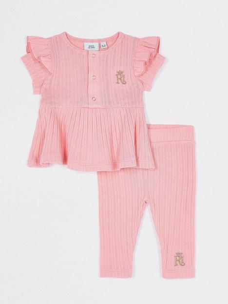 river-island-baby-baby-girls-ribbed-peplum-set-pink