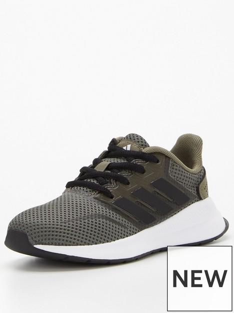 adidas-kids-unisex-runfalcon-khakiblack
