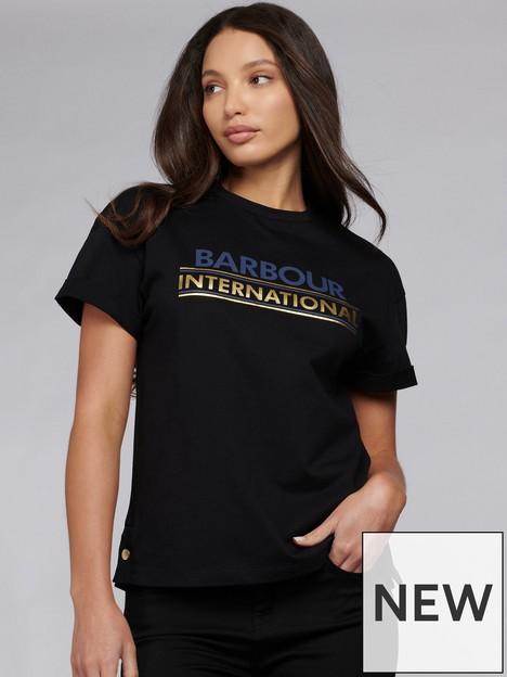barbour-international-sitka-modal-mix-foil-logo-tee-black