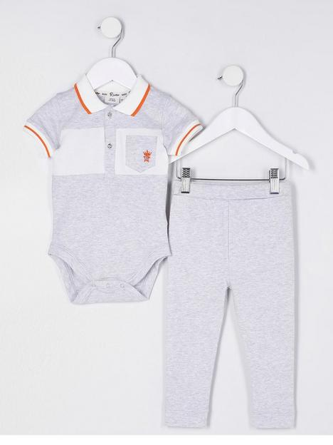 river-island-baby-baby-boys-polo-outfit-grey
