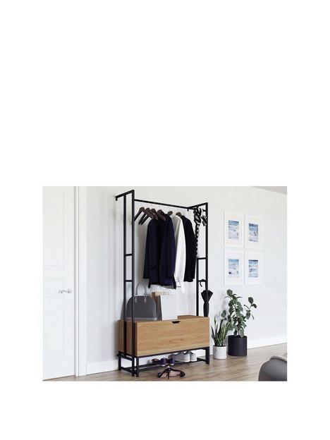 teknik-office-hythe-wall-mounted-hallway-storage
