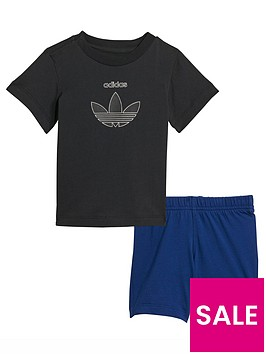 adidas-originals-infant-unisex-short-amp-tee-set-blackblue