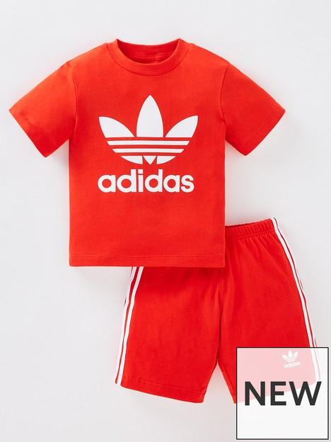 adidas-originals-infant-unisex-short-amp-t-shirt-set-redwhite