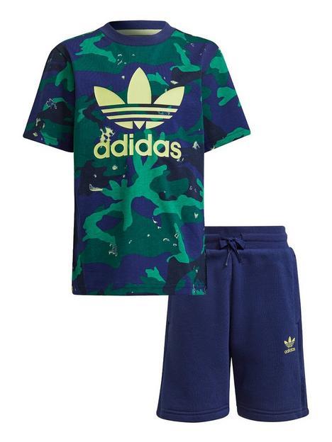 adidas-originals-boys-short-and-tee-set-navy-multi