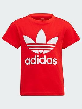 adidas-originals-kids-unisex-trefoil-t-shirt-redwhite