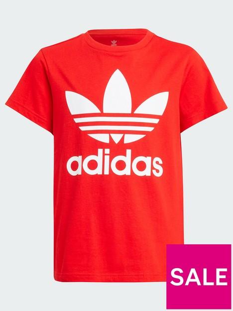 adidas-originals-junior-unisex-trefoil-t-shirt-redwhite