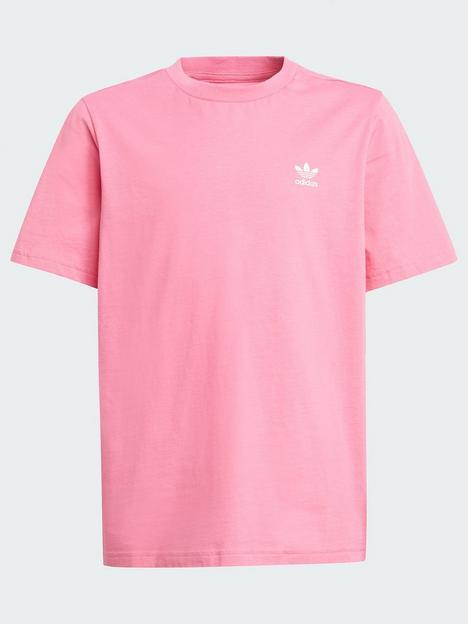 adidas-originals-junior-unisex-t-shirt-pinkwhite