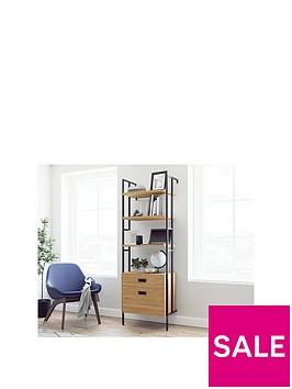 teknik-office-hythe-wall-mounted-bookcase