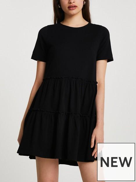 river-island-t-shirt-smock-dress-black
