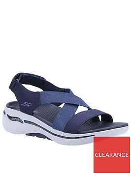 skechers-go-walk-arch-fit-gore-cross-band-wedge-sandal-navy