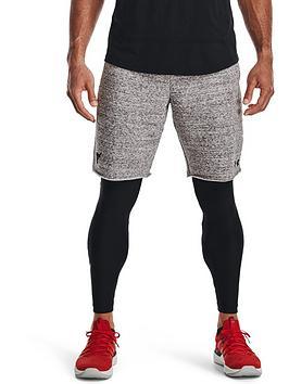 under-armour-training-project-rock-terry-shorts-whiteblack