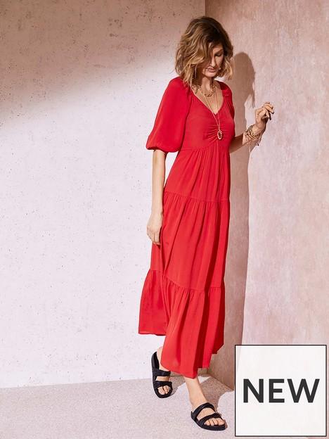 mint-velvet-red-tiered-boho-maxi-dress