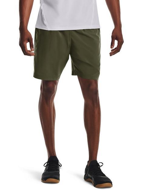 under-armour-training-woven-wordmark-shorts-greenwhite