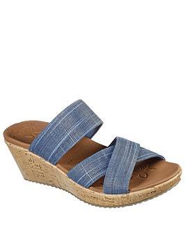 skechers-beverlee-sparkle-linen-multi-strap-slide-wedge-sandal-navy
