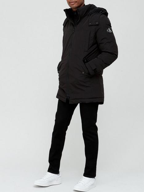 calvin-klein-jeans-sherpa-lined-long-parka-black