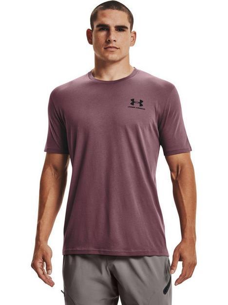 under-armour-training-sportstyle-left-chest-short-sleeve-t-shirt-purpleblack