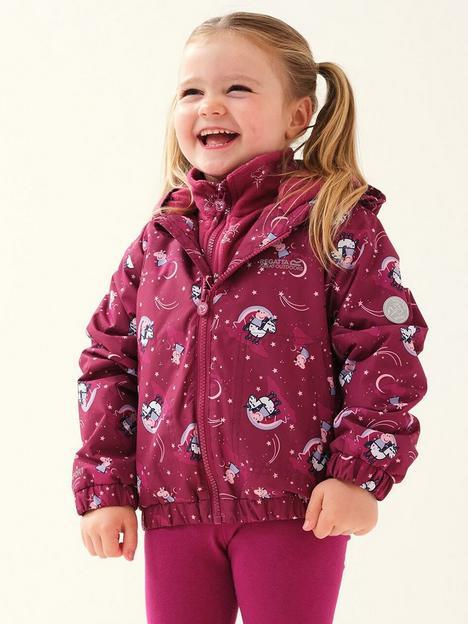 regatta-kids-peppa-pig-muddy-puddle-padded-jacket-raspberry
