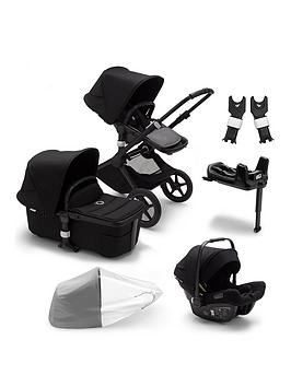 Bugaboo Fox 1 Pushchair Travel System Bundle - Black/Grey Melange