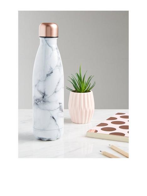 new-look-white-marble-effect-500ml-metal-bottle