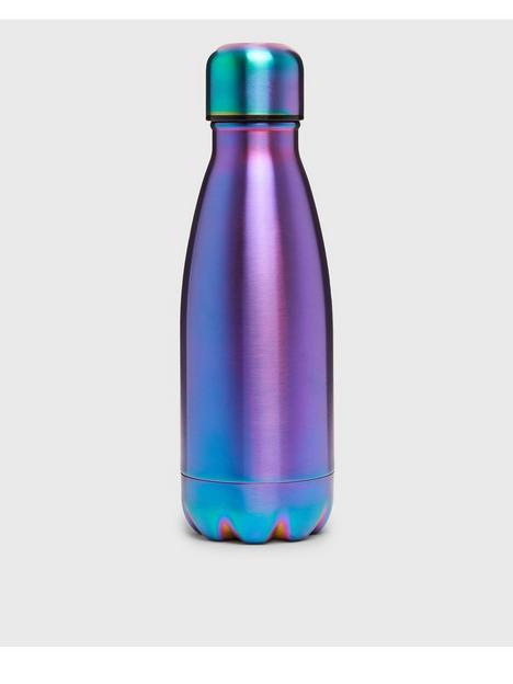new-look-multicoloured-oil-slick-metal-water-bottle