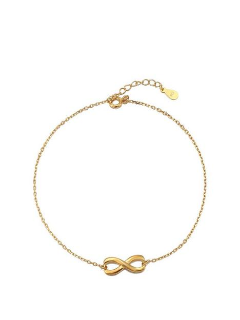 the-love-silver-collection-gold-plated-sterling-silver-knot-design-anklet