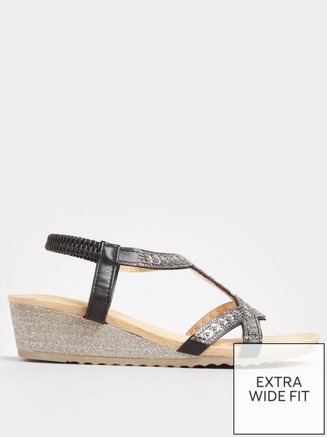 yours-yours-otis-twist-diamante-wedge-sandal--nbspblack