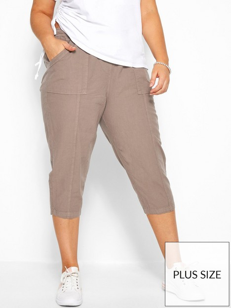 yours-yours-cool-cotton-crop-trousers--nbsplatte