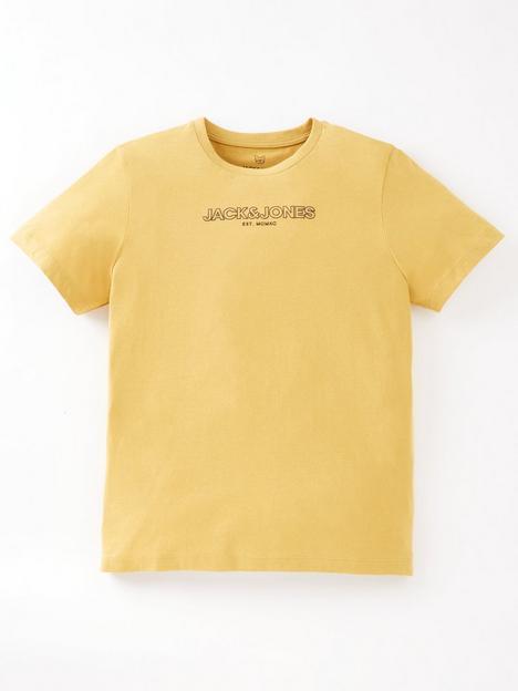 jack-jones-junior-boys-bank-short-sleeve-t-shirt-honey-mustard