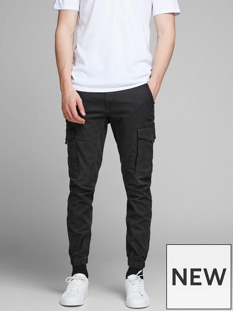 jack-jones-paul-skinny-fit-cargo-trousers-black