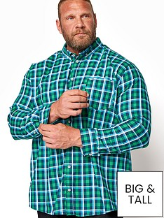 badrhino-check-long-sleeve-shirt-greynbsp