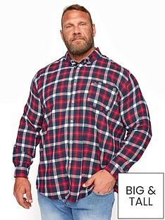 badrhino-brushed-check-long-sleeve-shirt-navynbsp