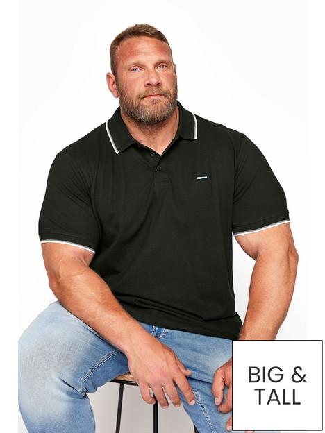 badrhino-essential-tipping-polo-shirt-blacknbsp
