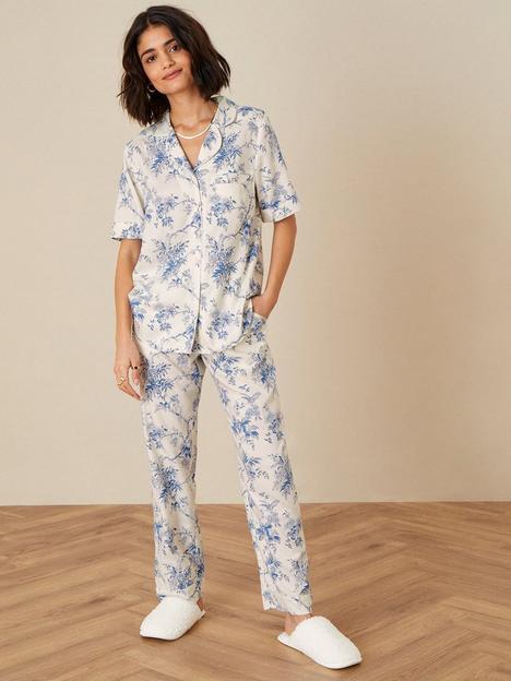 monsoon-monsoon-bird-floral-short-sleeve-pyjama-shirt