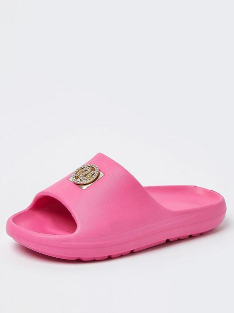 river-island-girls-diamante-moulded-slider-pink